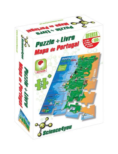 Puzzle Mapa Portugal 24 Pcs A4 Auchan Ate 2019 12 31