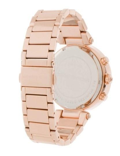 Relógio Michael Kors Paker Dourado Rosa