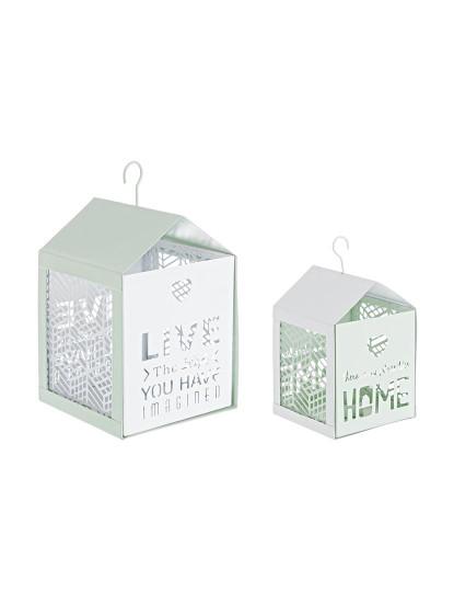 Set2 Porta-Velas Armonia Verde Claro E Branco
