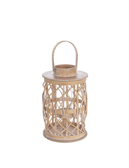 Porta-Velas Tanami Bamboo Vermelho M