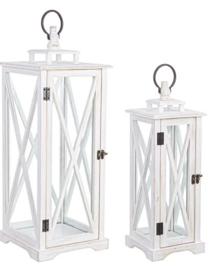 Set2 Porta-Velas Baita Slim Branco