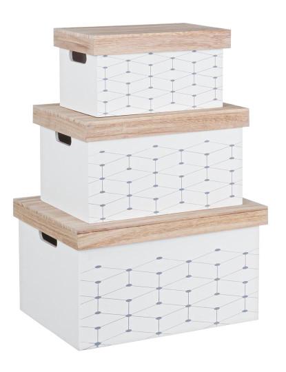 Set3 Caixas Alveare Retangulares Branco
