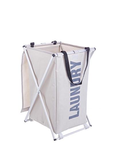 Cesto De Roupa Pleg Laundry Cinza Cl