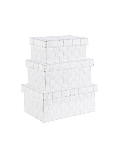 Set3 Caixas Intreccio Nylon Branco