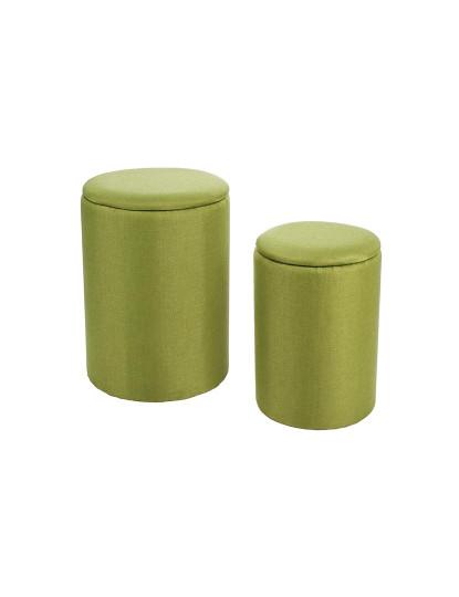 Set2 Cestos De Roupa Katya Redondo Verde