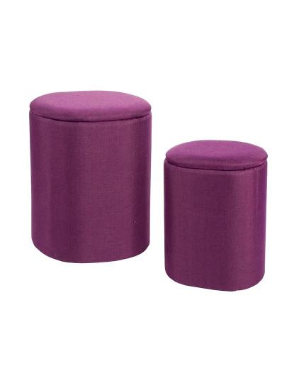 Set2 Cesto De Roupa Katya Oval Violeta