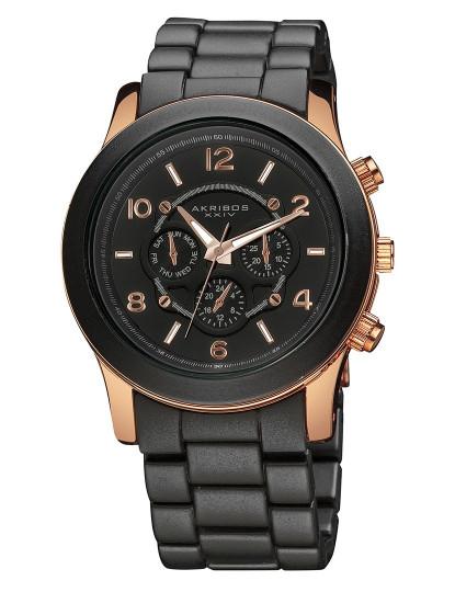 bdfb0fa03d6 Relógio Akribos Senhora Fashion Bracelet Preto e Dourado Rosa