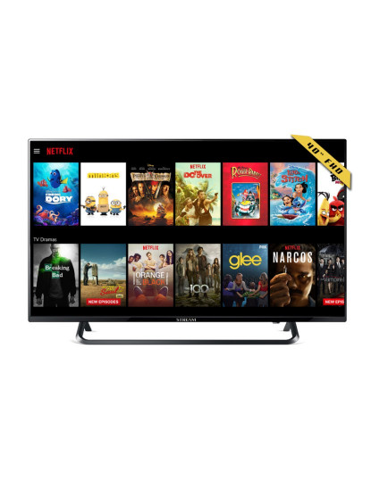 "Televisão FULL HD Smart TV 40"" LED Android Netflix HBO"