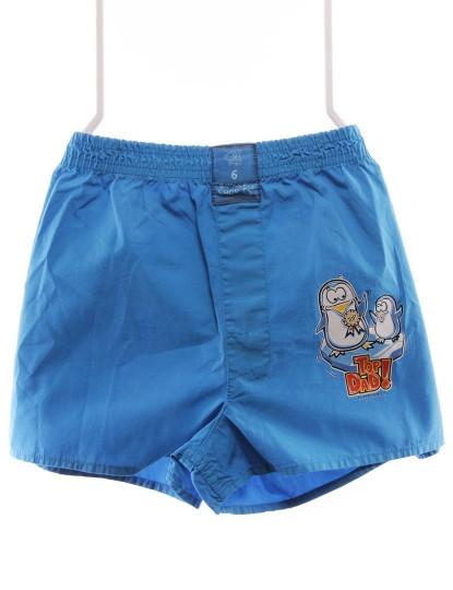 Boxers Pai Throttleman Rapaz Azul