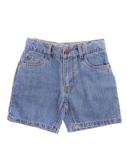 Calções 5 Bolsos Jeans Throttleman Rapaz Ganga Azul