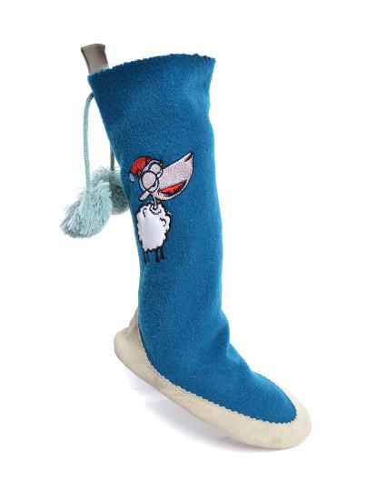 Calçado Pantufa Meia Natal Throttleman Rapariga Azul
