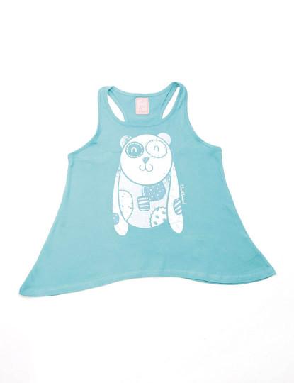 T-Shirt Regular Fit Funny Throttleman Rapariga Azul
