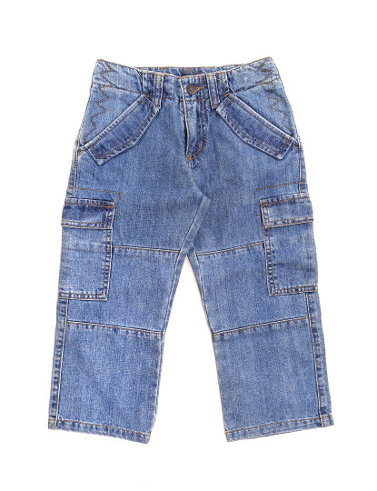 Calças Sem Pregas Jeans Throttleman Rapaz Ganga Azul