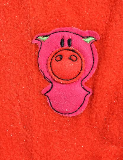 Calçado Pantufa Meia Funny Throttleman Rapariga Vermelho