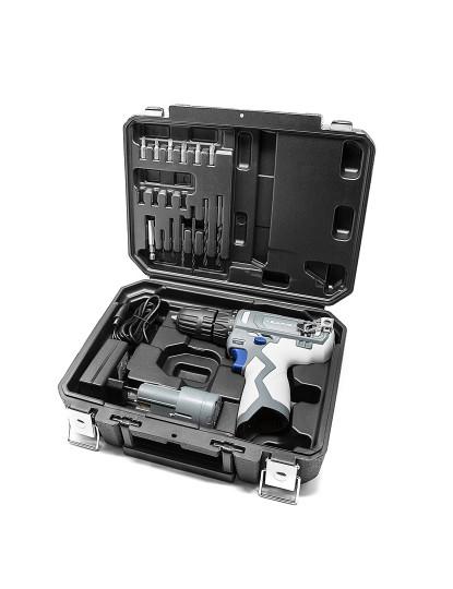 Berbequim sem fios Percussão BLAUPUNKT-Bateria + Carregador + Mala de transporte e 13 acessórios incluídos!