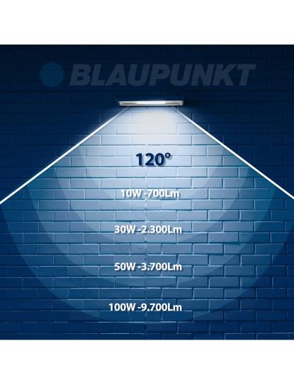 Projector Profissional Blindado Ultra Durável LED SMD Blaupunkt - Série Diamante 50w 6500k Cool White