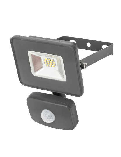 Projetor LED Outdoor c/ detector Movimento  MAX 10w 6500k profissional Cool White - Impermeável Ultra-Resistente