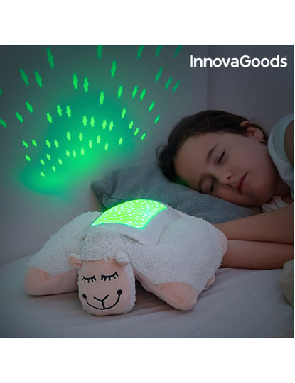 Ovelha de Peluche com Projector LED