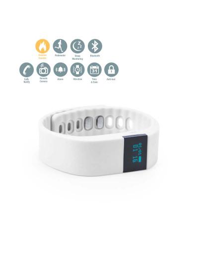 Smartband com bracelete em Silicone Branco