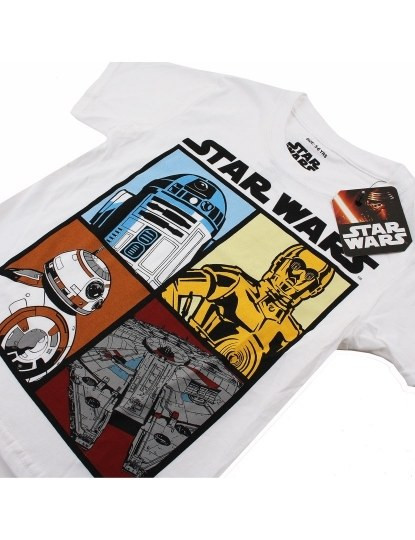 T-shirt Droids And Ships Menino Branca