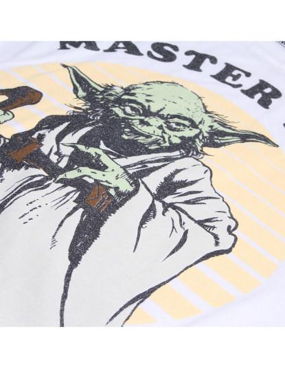 T-Shirt Master Yoda Homem Branco