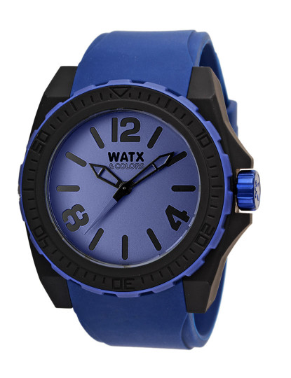 b5a59bfb655 Relógio Watx Colors Azul Preto