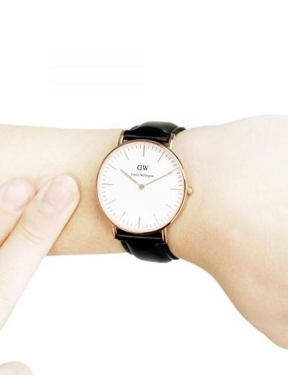 Relógio Daniel Wellington Classic Sheffield Preto e Dourado