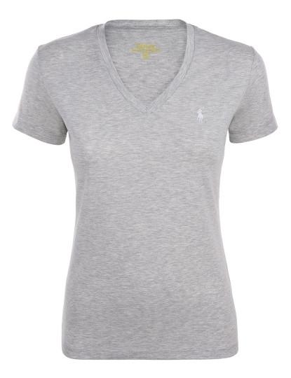 T-shirt de Senhora Cinzento Ralph Lauren 1b3c1c0add7
