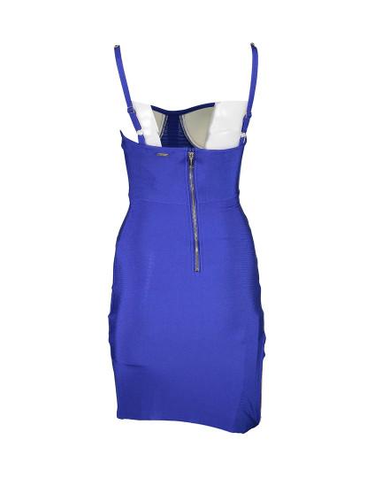 Vestido Curto Guess Jeans Senhora Azul