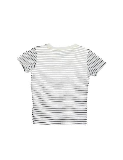T-shirt M. Curta Guess Jeans Menino Branco