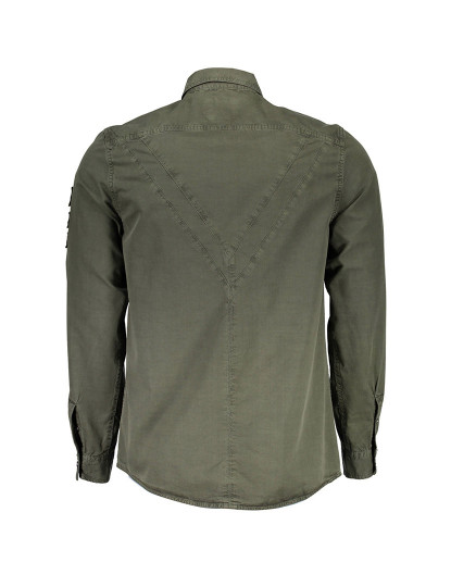 Camisa M. Comprida Guess Jeans Homem Verde