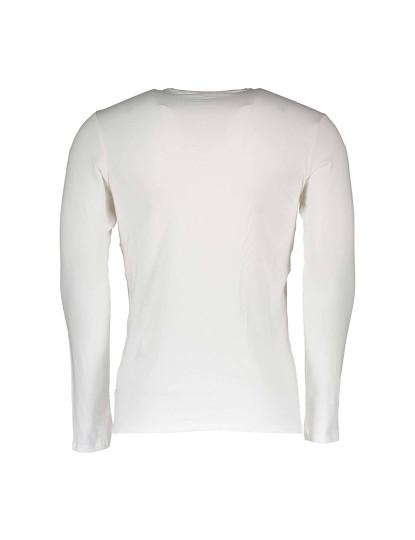 T-shirt M. Comprida Guess Jeans Homem Branco
