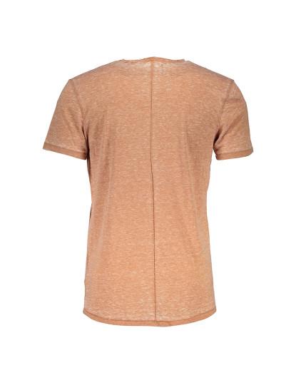 T-shirt M. Curta Guess Jeans Homem Castanho