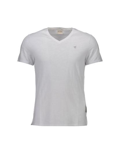 T-shirt M. Curta Guess Jeans Homem Branco