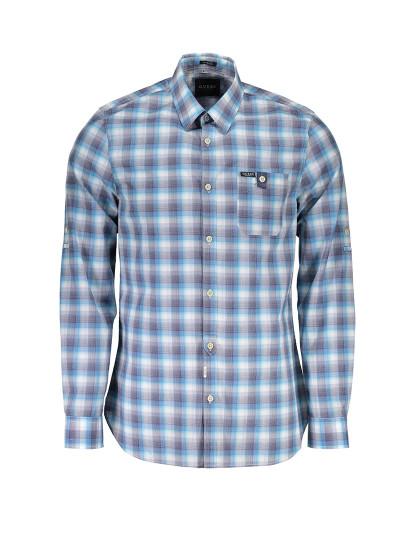 Camisa M. Comprida Guess Jeans Homem Azul Claro