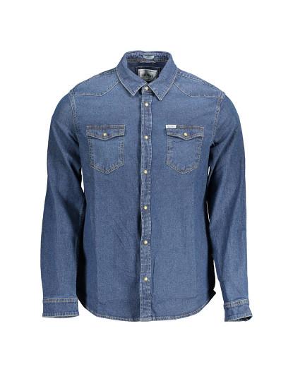 Camisa M. Comprida Guess Jeans Homem Azul