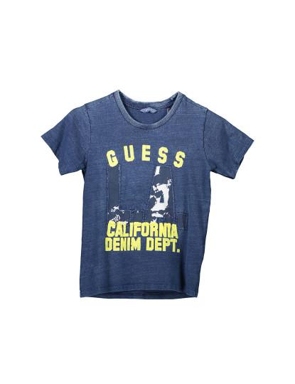 T-shirt M. Curta Guess Jeans Menino Azul