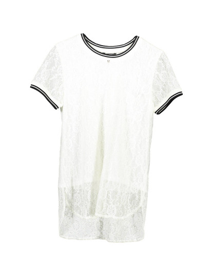 T-shirt M. Curta Guess Jeans Menina Branco