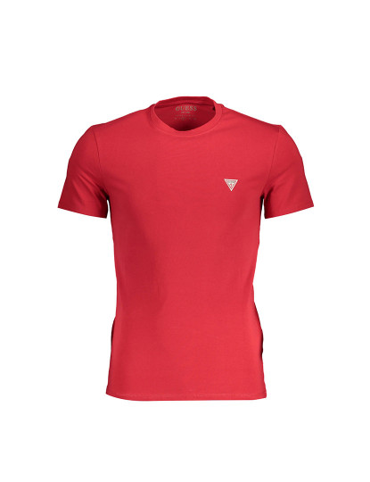 T-shirt M. Curta Guess Jeans Homem Vermelho