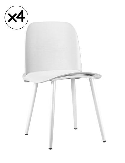 Pack 4 Cadeiras Gum Branco