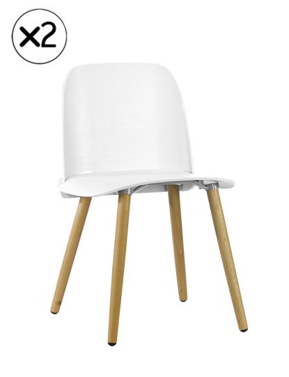 Pack 2 Cadeiras Wood Gum Branco