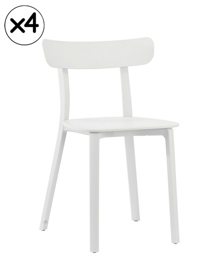 Pack 4 Cadeiras Kika Branco