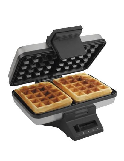 Waffle maker, rectangular, 2 pits,1000W