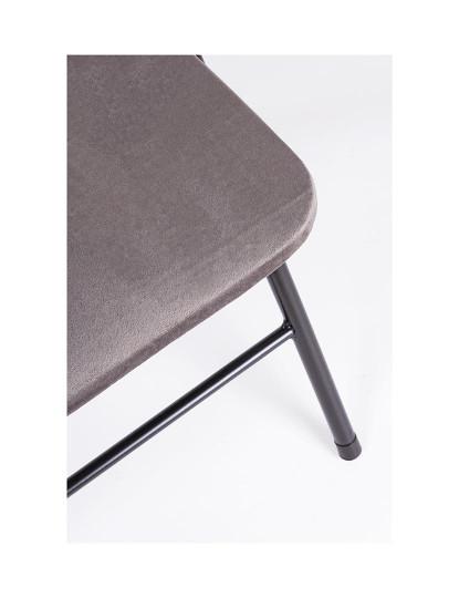 Cadeira Dobrável Amal Veludo Cinza