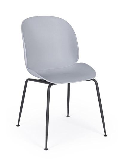 Cadeira Bizzotto Antigone Cinza Claro