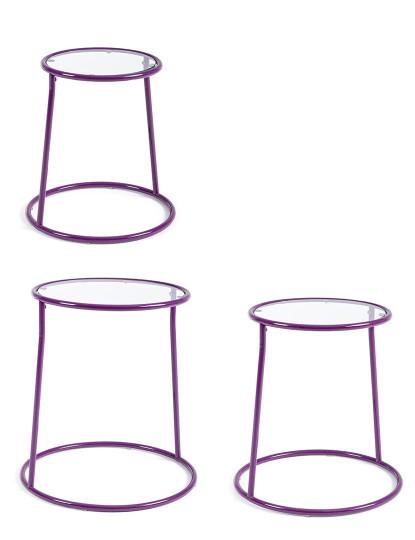 Conj. 3 Mesas Aux Magic Violeta