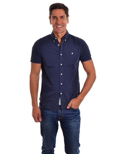 Camisa Manga Curta  Throttleman Homem Azul Marinho