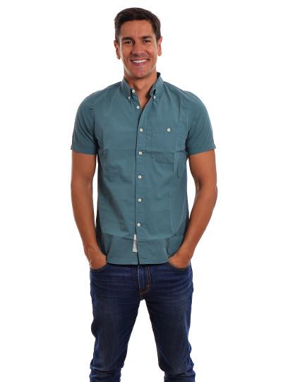 Camisa Manga Curta  Throttleman Homem Azul Cinza