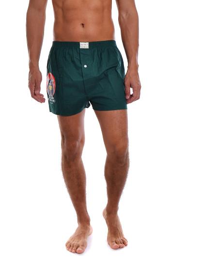 Boxers Funny Aniv Throttleman Homem Verde Escuro