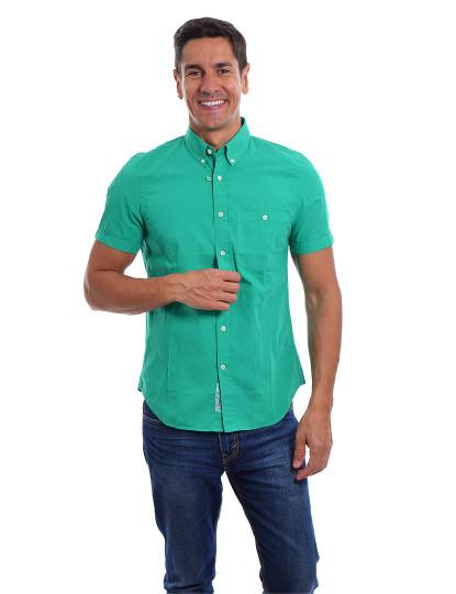 Camisa Manga Curta  Throttleman Homem Verde